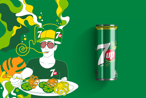 7UP 2018 Summer Series Cans